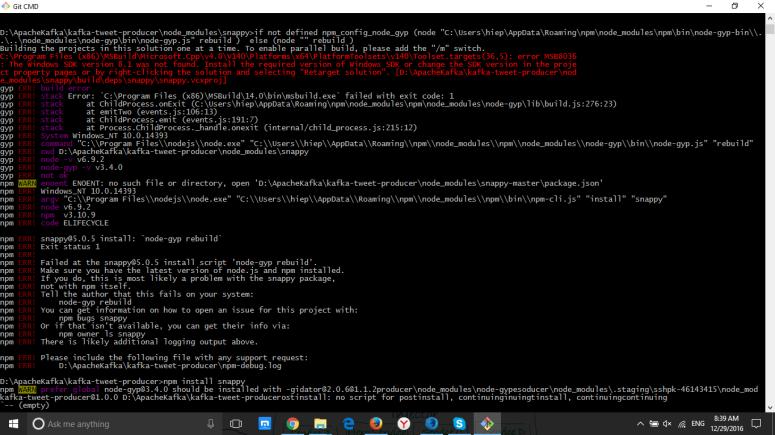 npm install heroku kafka plugin on Windows 64 bit – Trekking